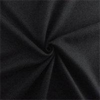 *3 1/8 YD PC--Black Wool Blend Flannel
