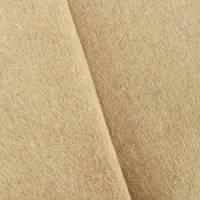 *1 3/8 YD PC--Deep Tan Beige Boiled Wool Blend Doubleweave Coating