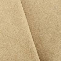 *1 3/8 YD PC--Deep Tan Beige Boiled Wool Blend Doubleweave Coating