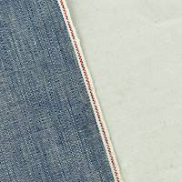*1 3/8 YD PC--Faded Blue Cotton Selvedge Chambray