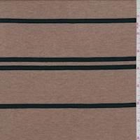 *3 5/8 YD PC--Brown/Black Stripe Jersey Knit