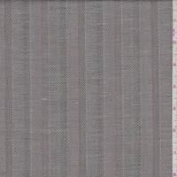 *2 YD PC--Ash Brown Herringbone Stripe Linen Suiting