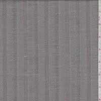 *2 YD PC--Ash Brown Herringbone Stripe Linen Suiting