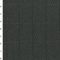 *3 3/4 YD PC--Black/Gray/Brown Wool Grid Twill Jacketing