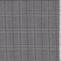 *4 1/4 YD PC--Taupe/Black Plaid Flannel Suiting