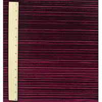 *2 1/2 YD PC--Red Burnout Pleat Velvet Knit