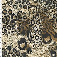 *2 YD PC--Brown/Black/Ivory Cheetah Print Jersey Knit