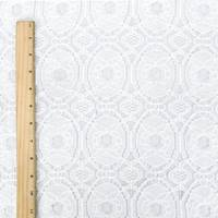 *4 5/8 YD PC--White Medallion Cotton Lace