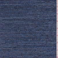 *1 3/4 YD PC--Heather Blue/Black Stripe Sweater Knit