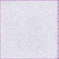 *2 YD PC--Whisper White Paisley Lace