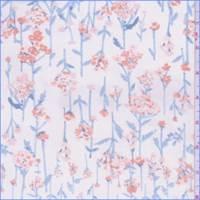*2 1/4 YD PC--Pale Ivory Floral Chiffon