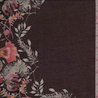 *3 3/4 YD PC--Mulberry Fringe Floral Rayon Lawn