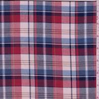 *2 YD PC--Red/Cream Plaid Flannel