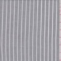 *2 3/4 YD PC--Heather Slate Stripe Linen Look