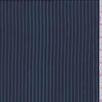 *3 3/8 YD PC--Dark Navy Stripe Peachskin