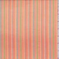 *3 1/2 YD PC--Tangerine Multi Stripe Cotton Gauze