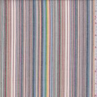 *1 1/2 YD PC--Tan Multi Stripe Shirting