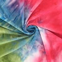Pink/Olive/Sky Blue Tie Dye Double Brushed Jersey Knit