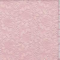 Creamy Pink Linen Blend Embroidered Floral Eyelet