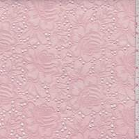 Pink Linen Blend Embroidered Floral Eyelet