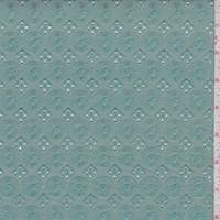 Seafoam Embroidered Medallion Linen Blend
