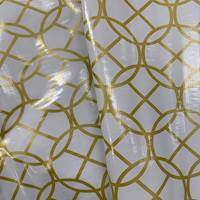 White/Gold Pane Oilcloth