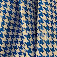 Blue Houndstooth Oilcloth