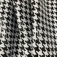 Black Houndstooth Oilcloth