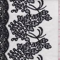 White/Black Embroidered Cluster Lawn