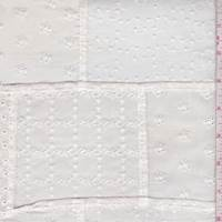 White/Tea Dye Patchwork Eyelet