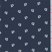 *11 YD PC--Stormy Sea Blue Squirrel Crepe de Chine