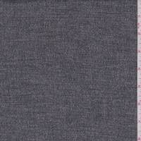 *1 7/8 YD PC--Black/White Textured Wool Suiting