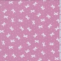 *3 YD PC--Blush Pink Bow Crepe de Chine