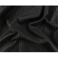 *1 1/4 YD PC--Black/Beige Fulled Wool Pinstripe Suiting
