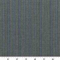 *5 3/8 YD PC--Faded Black/Blue Tropical Wool Blend Stripe Suiting