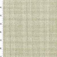 *5 YD PC--Ivory/Black Wool Static Texture Stripe Suiting