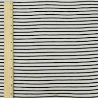 *2 YD PC--Black/Off White Lyocell Blend Stripe Tissue Jersey Knit