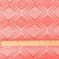 *1 YD PC--Coral Orange/White Diamond Texture Jacquard Knit