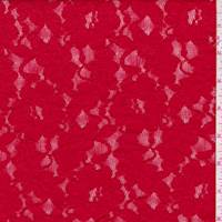 *1 1/4 YD PC--Pale Red Floral Lace