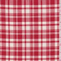 *2 YD PC--Red/White Plaid Flannel
