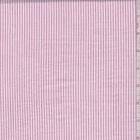 White/Deep Pink Stripe Seersucker
