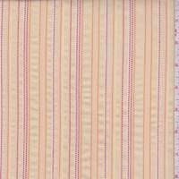 Buff/Berry/Orange Embroidered Stripe Cotton