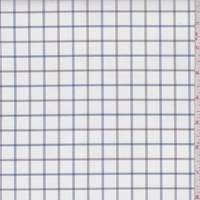 White/Navy/Brown Check Cotton Shirting