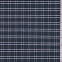 Spruce Green Plaid Cotton Shirting