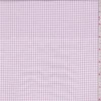 White/Orchid Mini Check Cotton Shirting