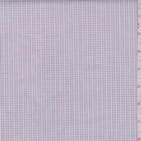 Grey Blue/Garnet Check Cotton Shirting