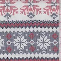 White/Navy/Red Snowflake Cotton Lawn