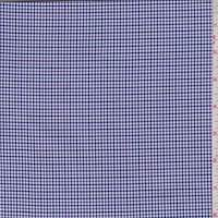White/Lilac/Navy Mini Houndstooth Check Shirting