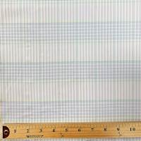 White/Navy/Gold Mini Check Cotton Shirting
