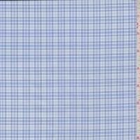 Ocean Blue/White Check Cotton Shirting